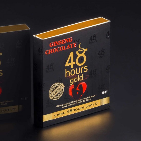 48 Hours Chocolate FOR MEN, Epimedium Chocolate,  Erectile Dysfunction Chocolate, Sexual Performance Enhancer Chocolate, Unique Formula, Long-Lasting 72 Hours Effect, 6 × 16 g, 96 g