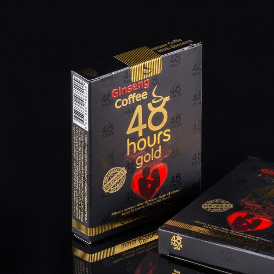 48-Hour Gold Turkish Coffee FOR MEN, Ginseng Turkish Coffee, Erectile Dysfunction Turkish Coffee, Sexual Performance Turkish Coffee, Unique Formula, Long-Lasting 48 Hours Effect, 6 × 20g, 120g