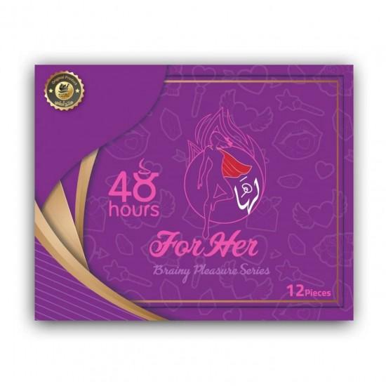 FOR HER Chocolate FOR WOMEN, Aphrodisiac Chocolate, Brainy Pleasure Series, Women Sexual Frigidity Treatment, 12 Pieces
