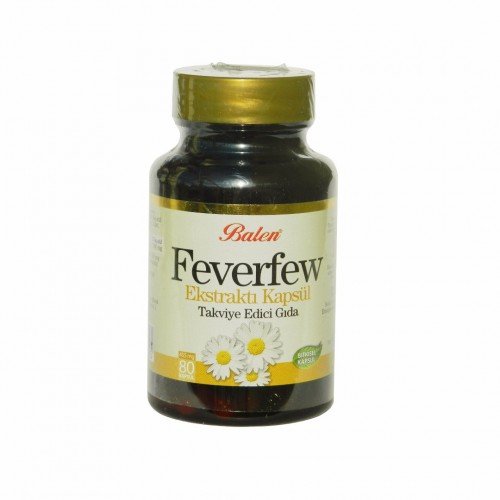 Feverfew, Anti migraine, 380 mg, 80 Capsules