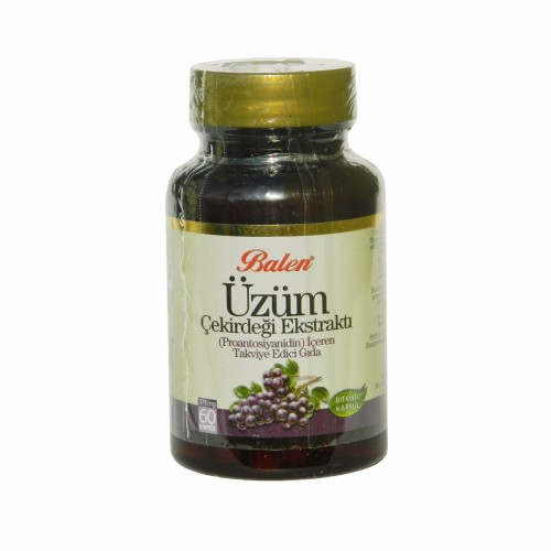 Turkish Grape Seed , 375 mg, Proanthocyanidin 95%, 60 Capsules