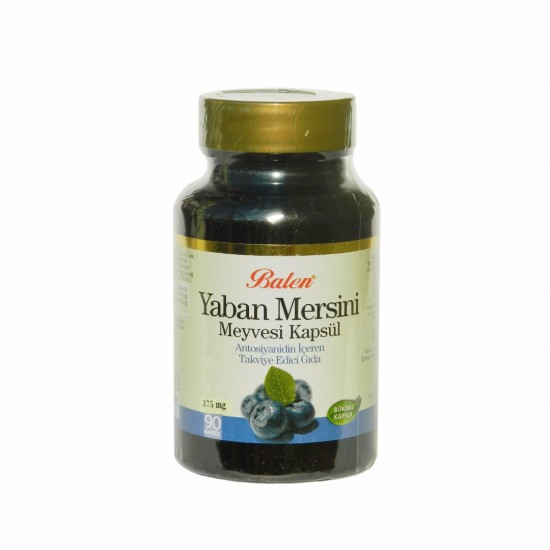 Mersin Bilberry Extract, Eyes Friend, 375 mg 90 Capsules