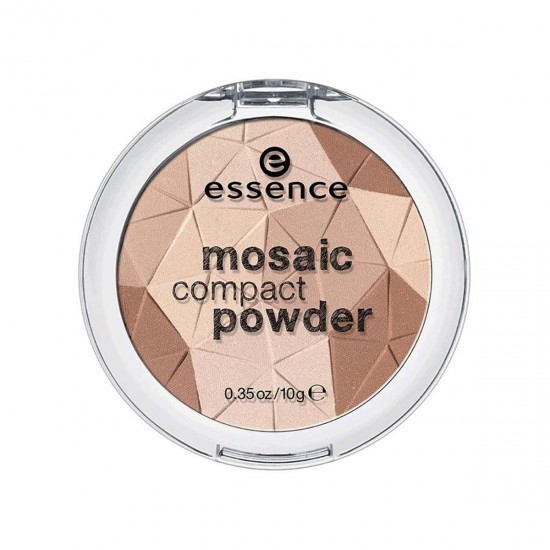ESSENCE Mosaic Compact Powder, Shine All Day Long, Sunkissed Beauty 01, 100% Cruelty-free & Vegan, 10g 0.35 oz