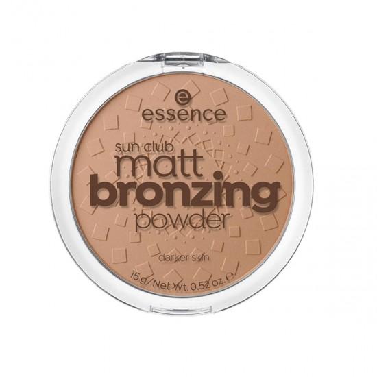 ESSENCE Sun Club Matt Bronzing Powder, Darker Skin, essence 02 SUNNV, 100% Cruelty-free & Vegan, 15g 0.52 oz