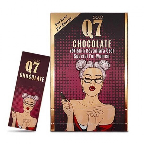Original Epimedium Gold Q7 Chocolate FOR WOMEN, Aphrodisiac Chocolate, Women Frigidity Treatment 6 × 25 g, 150 g
