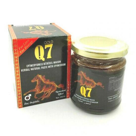 Original Gold Q7 Epimedium Turkish Honey, Aphrodisiac Epimedium Paste, Improved Formula for Premature Ejaculation  240 gr