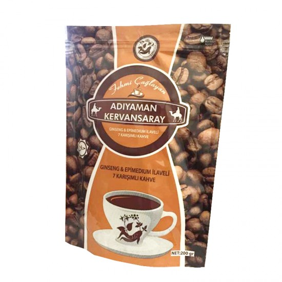 Epimedium Coffee with Ginseng, Sexual Tonic With Seven Additives, Yemeni Coffee for Erection, Ejaculation Coffee Enriched with Epimedium, Ginseng and The Seven Additives, for Men and Women, 200 gr