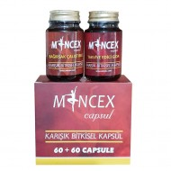 MINCEX Best Weight Loss Pills in Turkey - 5 to 12 kg in one month - Burns Fat - Suppresses Appetite - Boosts Metabolism - Lose Weight & Get Fit The Safe & Natural Way with Turkish Slimming Pills - 60+60 Capsules