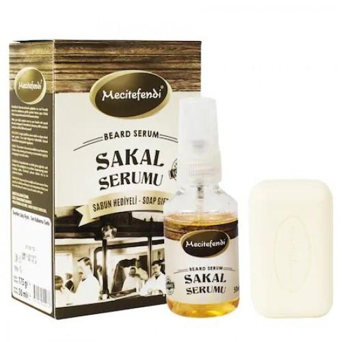 Turkish Beard Set, Herbal formula, serum and gift soap, 50 ml 150 g