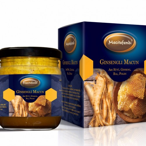 Turkish Honey, Ginseng, Bee's milk and pollen, Super Paste, 200 Gr
