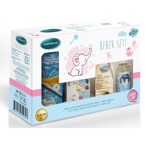 Natural baby care set, Chamomile Shampoo, Soap, rash cream, massage oil