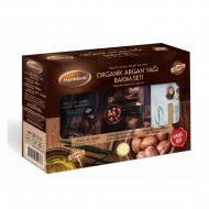 Organic Argan Oil Care Set for Dry Skin, Cream, Mask and Soap, Paraffin-Free