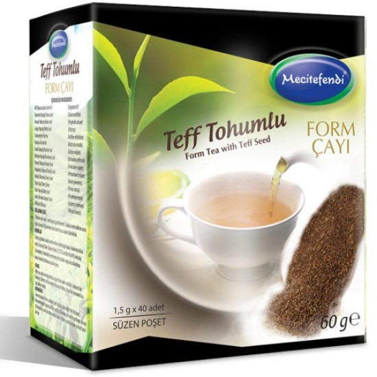 Turkish Teff Tea, Original Teff Seed Slimming Tea, Turkish Herbal Tea, Economic Slimming Tea, 40 x 1.5 g, 60 g