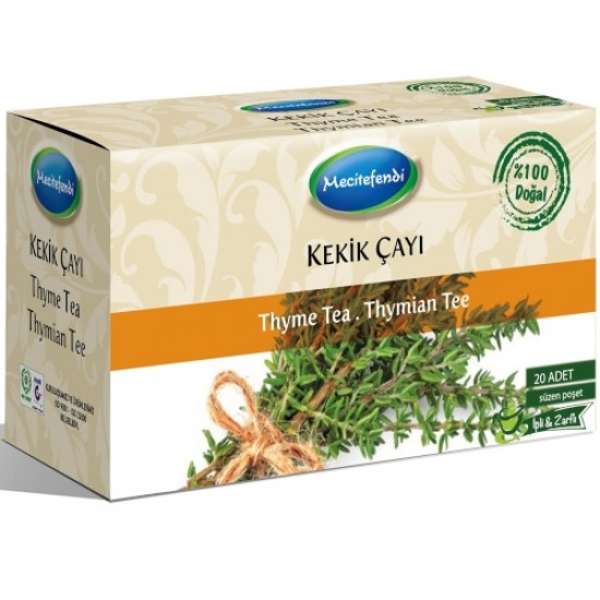 Thyme tea, Turkish Thyme Harvest, Turkish Herbal Tea, 20 Teabag, 24 gr