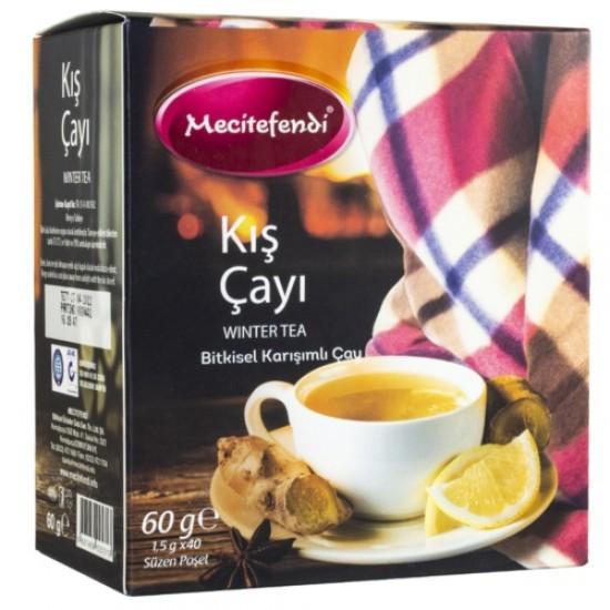 Turkish Winter Tea, 41-Herbs Winter Tea, Turkish Herbal Tea, Boost Immunity, Cold and Flu, Cough Suppressant tea, 40 Teabag x 1.5 g, 60 g