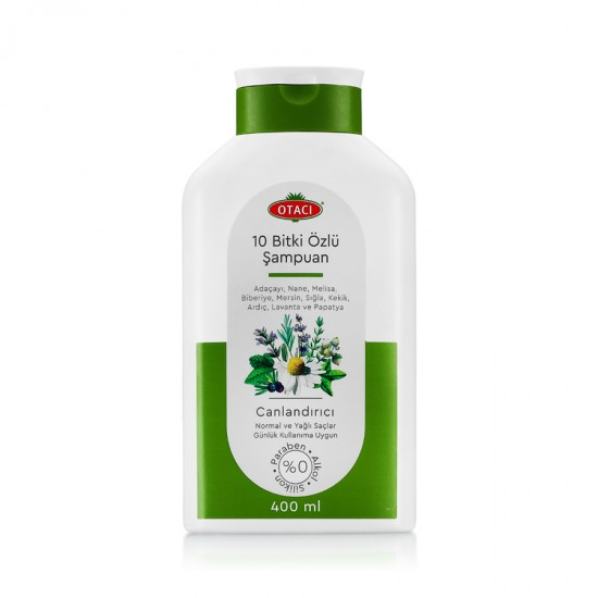 Ten Plants' Shampoo For Healthy and Attractive Hair (400 ml)