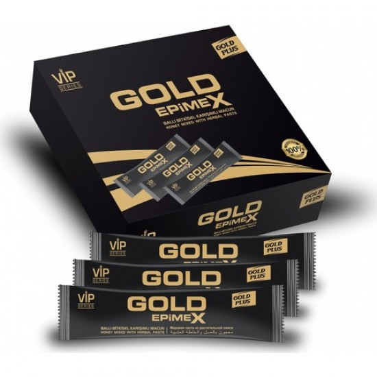 Gold Epimex Vip, Royal Honey, Natural Sexual Tonic with Epimedium, Red Ginseng Tribulus Extract, 12 sachets x 10 gr, 120 gr