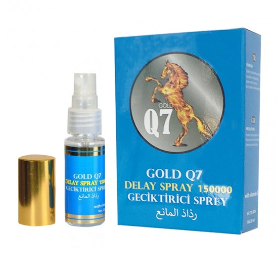 Gold Q7  Jumbo Delay Spray For Men Penis Male Sex Aid Premature Ejaculation Last Longer 20 ml