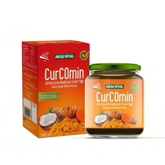Turkish CurComin Macun, Creamy Paste with Turmeric and Coconut, 190 gr