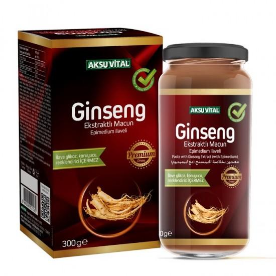 Super Epimedium & Ginseng Macun, Super Paste of Turkish Honey with Epimedium & Ginseng, Premium Series, 38 ingredients, Improve libido, ED, 300 gr