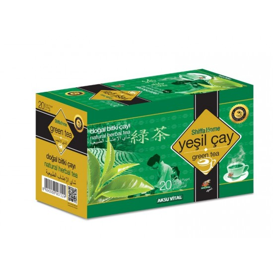 الشاي الأخضر, شفا هوم, 20 كيس, 40 غرام