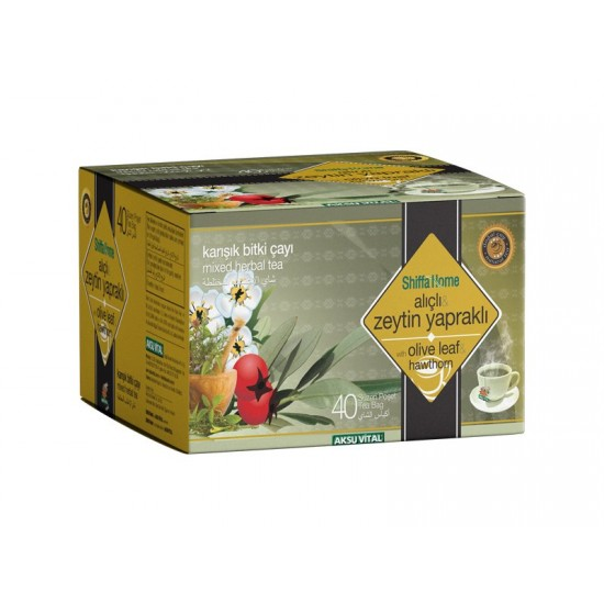 Mixed Herbal Tea With Olive Leaf And Hawthorn Turkish Immune System Friend 40 Bags 60 Gr