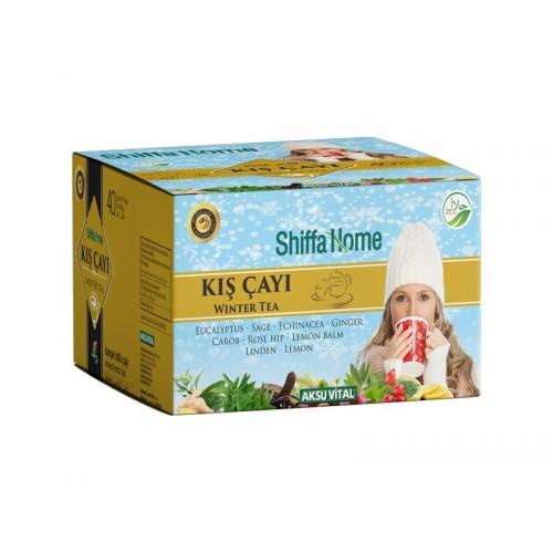 شاي الشتاء للكريب ونزلات البرد والالتهابات التنفسية، شاي الأعشاب التركي، 40 كيس شاي، 80غرام