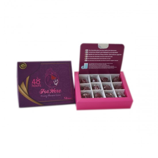 FOR HER Chocolate FOR WOMEN, Aphrodisiac Chocolate, Brainy Pleasure Series, Women Sexual Frigidity Treatment, 12 Pieces