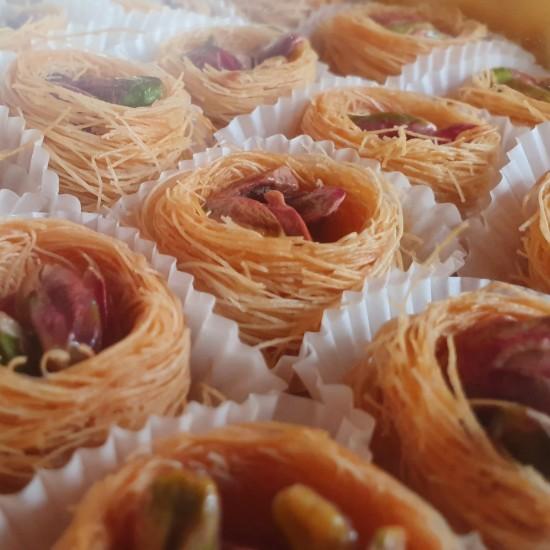 Turkish sweets, Luxury Birds Nest Pistachio delight 310 gr