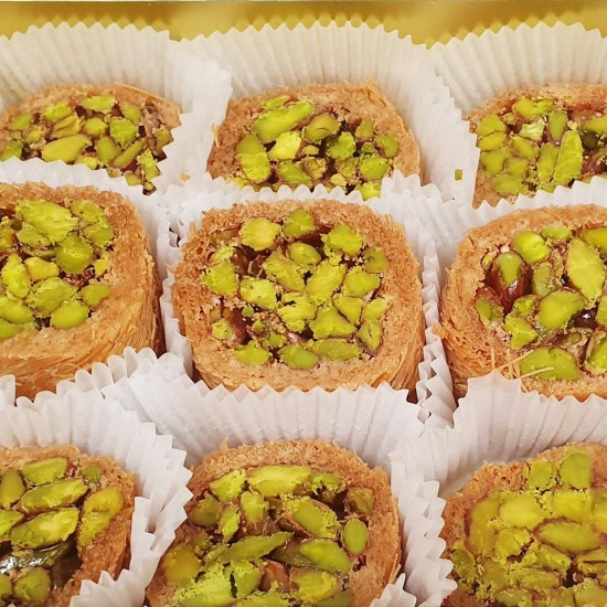 Turkish sweets, Luxury Mabrooma Pistachio delight 380 gr