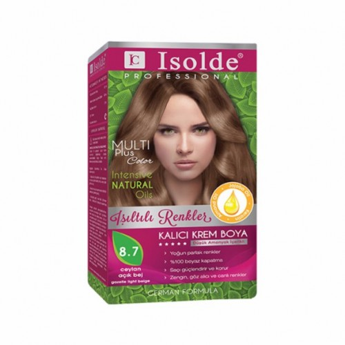 Isolde Multi Plus, Turkish Permanent Herbal Haircolor Cream,8.7 gazelle light beige, 135 ml