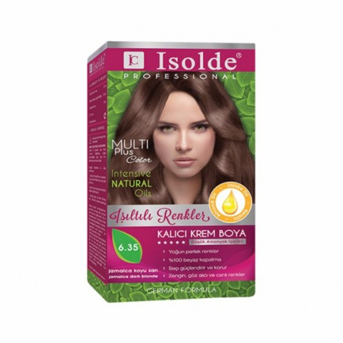 Isolde Multi Plus, Turkish Permanent Herbal Haircolor Cream,6.35, Jamaica Dark Blonde,135 ml