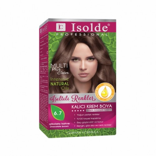 Isolde Multi Plus, Turkish Permanent Herbal Haircolor Cream,6.7, Chocolate brown,135 ml