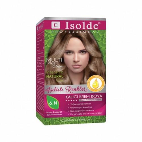Isolde Multi Plus, Turkish Permanent Herbal Haircolor Cream,6.N dark warm brown, 135 ml