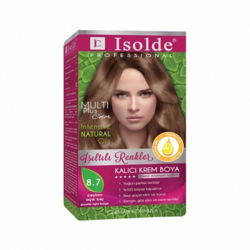 Isolde Multi Plus, Turkish Permanent Herbal Haircolor Cream,8.7 gazelle light beige, 135 ml