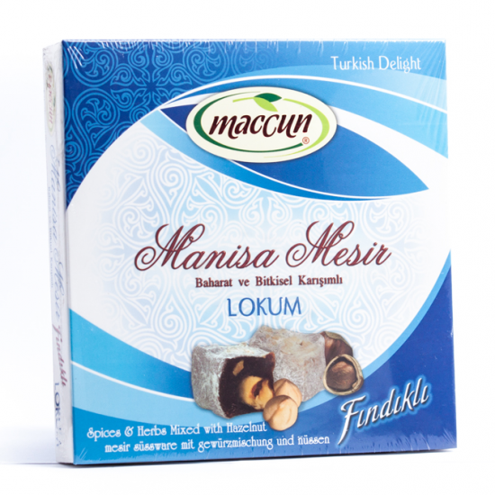 Turkish Delight, Turkish Lokum by Hazelnut, Lokum Of Mesir Paste of Manisa, Manisa Mesir Macun Lokum, Paste of Sultans, Magic Turkish Paste, General Tonic For Good Health, Anti Flu, For Adults And Children, 200 Gr