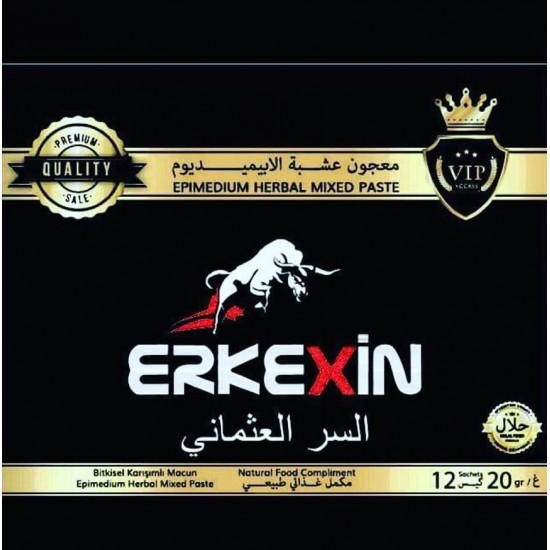 Erkekxin epimedium Macun with Ferula root and Tripolis, Ottoman secret mix, 240 g