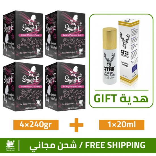 Great Epimedium Offers, Smart Erection Epimedium Paste-North, 4×240gr + Free Gift Stag 9000 Delay Spray For Men 20 ml