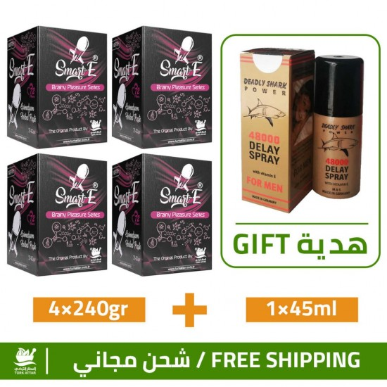 Great Epimedium Offers, Smart Erection Epimedium Paste-North, 4×240gr + Free Gift Deadly Shark 48000 Delay Spray For Men 45 ml