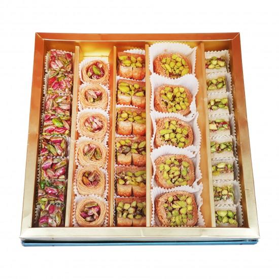 Turkish sweets, Assorted Turkish desserts, Antep Pistachio delight, 550 gr