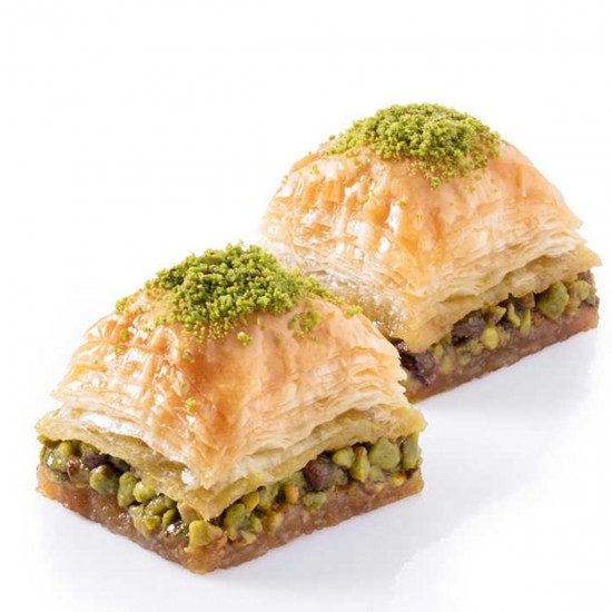 Turkish sweets, Turkish Baklava, Long-Lasting Dry Baklava with Pistachio 855 gr