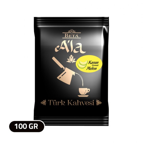 Beta A'la Turkish Coffee Melon flavored , Traditional Turkish Coffee, 100 gr