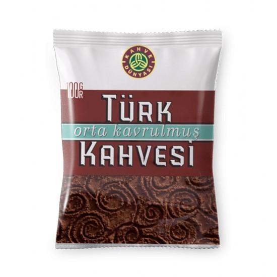 Turkish Coffee, Kahve Dunyasi Coffee, Coffee World, Medium Roast Coffee, 100 gr